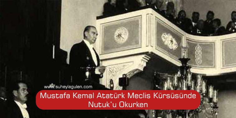 """Mustafa Kemal 15 Ekim 1927 tarihinde verdiği Büyük Söylevi'ne o veciz ve unutulmaz cümle ile başlar: """"1919 yılı Mayıs'ının 19'uncu günü Samsun'a çıktım."""" Sonra """"Ülkenin genel durumu ve görünüşü"""" anlatmaya başlar… Söylev yok edilmek istenen bir ulusun kahramanlık destanının bu destanı yazan kahraman Mehmetçiğin BAŞKOMUTANI Gazi Mustafa Kemal ATATÜRK tarafından anlatımıdır. Söylev otuz altı buçuk (36,5) saat ve altı (6) gün olan söyleyiş süresi,içeriği,kapsamı,belgeleri ve veriliş şekli ile eşsizdir. Söylev sadece kurtuluş ve kuruluş mücadelemizde yapılanları değil, tam bağımsızlık ve milli egemenlik için de sonrası hatta günümüzde dahi yapılması gerekenler için yol gösteren tarihi olduğu kadar siyasi bir belgedir. Gazi Mustafa Kemal Atatürk Söylevini Gençliğe Hitabı ile tamamlarken; """"Bugün ulaştığımız sonuç, yüzyıllardan beri çekilen ulusal yıkımların yarattığı uygarlığın ve bu sevgili yurdun her köşesini sulayan kanların karşılığıdır.Bu sonucu, Türk gençliğine kutsal bir armağan olarak bırakıyorum."""" Değerlendirmesi yaparak Türk gençliğini bıraktığı kutsal emanet """"CUMHURİYET""""ini koruma fikri üzerinde hem birleştirmiş hem de esasen görevlendirmiştir. Kurtuluş Savaşı'mızın başlangıcının 100.Yılında Gazi Mustafa Kemal Atatürk""""ün emanetinin sorumluluğunu taşıyan sadece gençler değil tüm vatanseverler olarak Büyük Söylevi okumalı ve içeriğini iyi anlamalıyız. Başta Gazi Mustafa Kemal Atatürk olmak üzere, aziz şehitlerimizi ve gazilerimizi saygı, şükran ve minnetle bir kez daha anıyorum. Süheyla GÜLEN Açık Kapı Derneği Onursal Başkanı"""
